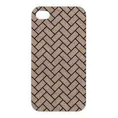 Brick2 Black Marble & Sand Apple Iphone 4/4s Hardshell Case by trendistuff