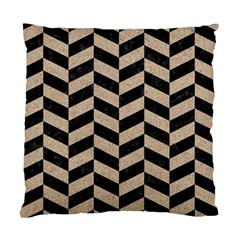 Chevron1 Black Marble & Sand Standard Cushion Case (two Sides) by trendistuff