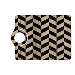 Chevron1 Black Marble & Sand Kindle Fire Hd (2013) Flip 360 Case by trendistuff