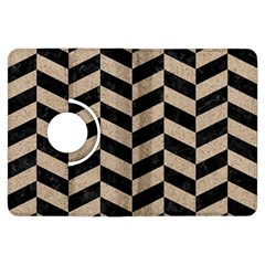 Chevron1 Black Marble & Sand Kindle Fire Hdx Flip 360 Case by trendistuff