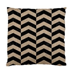 Chevron2 Black Marble & Sand Standard Cushion Case (two Sides) by trendistuff