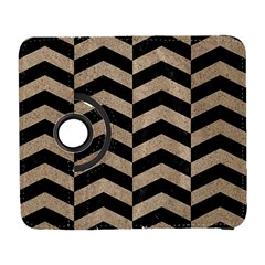 Chevron2 Black Marble & Sand Galaxy S3 (flip/folio) by trendistuff