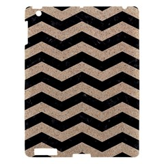 Chevron3 Black Marble & Sand Apple Ipad 3/4 Hardshell Case by trendistuff