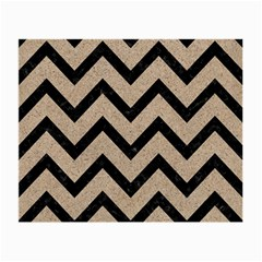 Chevron9 Black Marble & Sand Small Glasses Cloth by trendistuff