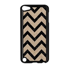 Chevron9 Black Marble & Sand Apple Ipod Touch 5 Case (black)