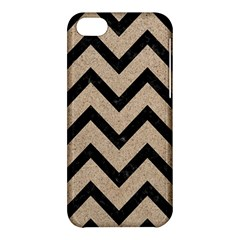 Chevron9 Black Marble & Sand Apple Iphone 5c Hardshell Case by trendistuff