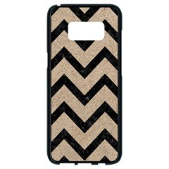 Chevron9 Black Marble & Sand Samsung Galaxy S8 Black Seamless Case by trendistuff