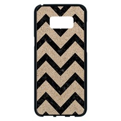 Chevron9 Black Marble & Sand Samsung Galaxy S8 Plus Black Seamless Case by trendistuff
