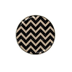 Chevron9 Black Marble & Sand (r) Hat Clip Ball Marker (10 Pack) by trendistuff