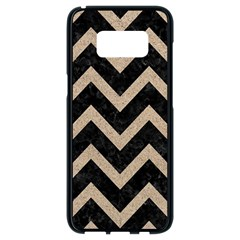 Chevron9 Black Marble & Sand (r) Samsung Galaxy S8 Black Seamless Case by trendistuff