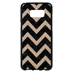Chevron9 Black Marble & Sand (r) Samsung Galaxy S8 Plus Black Seamless Case by trendistuff
