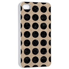 Circles1 Black Marble & Sand Apple Iphone 4/4s Seamless Case (white) by trendistuff