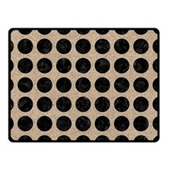 Circles1 Black Marble & Sand Double Sided Fleece Blanket (small)  by trendistuff