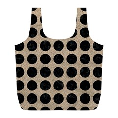 Circles1 Black Marble & Sand Full Print Recycle Bags (l)  by trendistuff