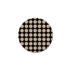 Circles1 Black Marble & Sand (r) Golf Ball Marker by trendistuff