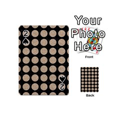 Circles1 Black Marble & Sand (r) Playing Cards 54 (mini)  by trendistuff