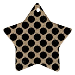 Circles2 Black Marble & Sand Star Ornament (two Sides) by trendistuff