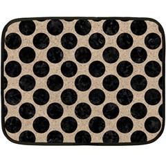Circles2 Black Marble & Sand Double Sided Fleece Blanket (mini)  by trendistuff