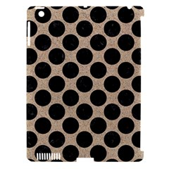 Circles2 Black Marble & Sand Apple Ipad 3/4 Hardshell Case (compatible With Smart Cover) by trendistuff