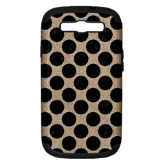 Circles2 Black Marble & Sand Samsung Galaxy S Iii Hardshell Case (pc+silicone) by trendistuff