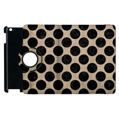 Circles2 Black Marble & Sand Apple Ipad 3/4 Flip 360 Case by trendistuff