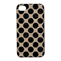 Circles2 Black Marble & Sand Apple Iphone 4/4s Hardshell Case With Stand by trendistuff