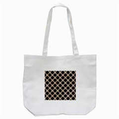 Circles2 Black Marble & Sand Tote Bag (white) by trendistuff