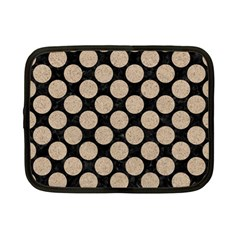 Circles2 Black Marble & Sand (r) Netbook Case (small)  by trendistuff