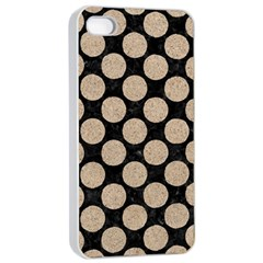 Circles2 Black Marble & Sand (r) Apple Iphone 4/4s Seamless Case (white) by trendistuff