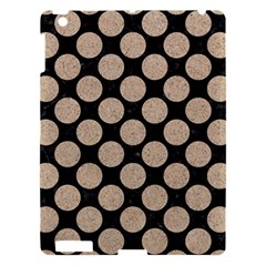 Circles2 Black Marble & Sand (r) Apple Ipad 3/4 Hardshell Case by trendistuff