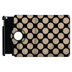 Circles2 Black Marble & Sand (r) Apple Ipad 3/4 Flip 360 Case by trendistuff