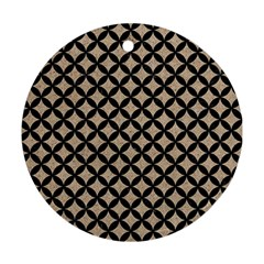 Circles3 Black Marble & Sand Ornament (round) by trendistuff