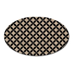 Circles3 Black Marble & Sand Oval Magnet by trendistuff