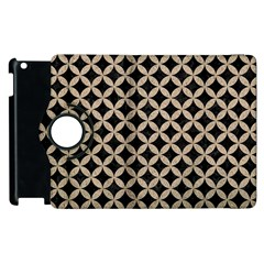 Circles3 Black Marble & Sand (r) Apple Ipad 3/4 Flip 360 Case by trendistuff