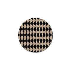 Diamond1 Black Marble & Sand Golf Ball Marker by trendistuff