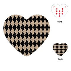 Diamond1 Black Marble & Sand Playing Cards (heart)  by trendistuff