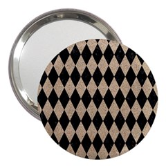 Diamond1 Black Marble & Sand 3  Handbag Mirrors by trendistuff