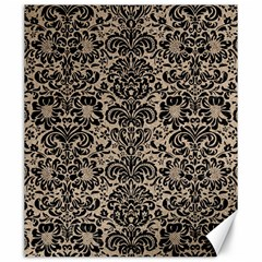 Damask2 Black Marble & Sand Canvas 20  X 24   by trendistuff