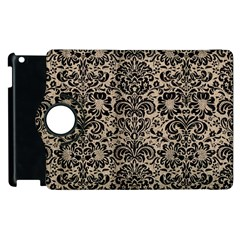 Damask2 Black Marble & Sand Apple Ipad 3/4 Flip 360 Case by trendistuff
