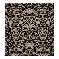 Damask2 Black Marble & Sand (r) Shower Curtain 66  X 72  (large)  by trendistuff