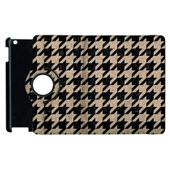 Houndstooth1 Black Marble & Sand Apple Ipad 3/4 Flip 360 Case by trendistuff