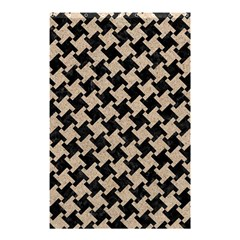 Houndstooth2 Black Marble & Sand Shower Curtain 48  X 72  (small)  by trendistuff