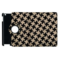 Houndstooth2 Black Marble & Sand Apple Ipad 3/4 Flip 360 Case by trendistuff