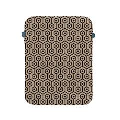 Hexagon1 Black Marble & Sand Apple Ipad 2/3/4 Protective Soft Cases by trendistuff