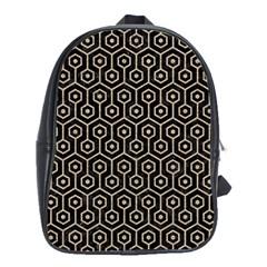 Hexagon1 Black Marble & Sand (r) School Bag (xl) by trendistuff