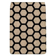 Hexagon2 Black Marble & Sand Flap Covers (l)  by trendistuff