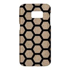 Hexagon2 Black Marble & Sand Samsung Galaxy S7 Hardshell Case  by trendistuff