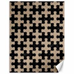 Puzzle1 Black Marble & Sand Canvas 12  X 16   by trendistuff