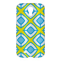 Blue Rhombus Pattern                          Apple Ipad 3/4 Woven Pattern Leather Folio Case by LalyLauraFLM