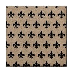Royal1 Black Marble & Sand (r) Tile Coasters